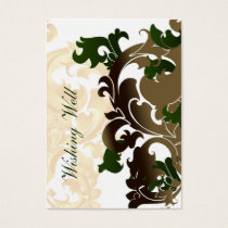 green gold wishing well cards