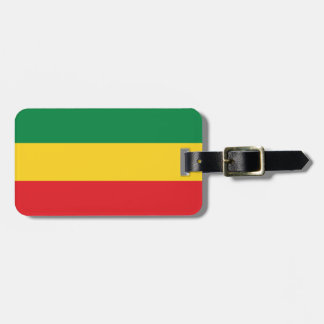 Green, Gold (Yellow) and Red Colors Flag Bag Tag