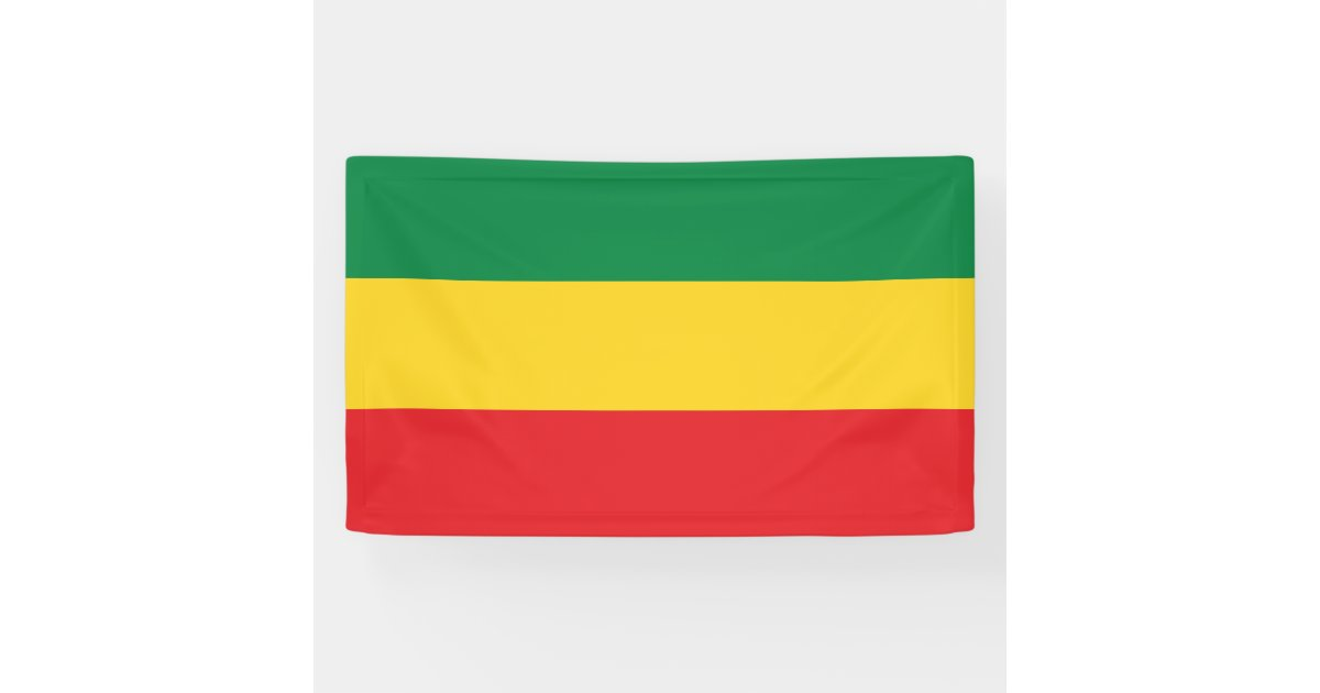 Green Gold Yellow And Red Colors Flag Banner Zazzle Com