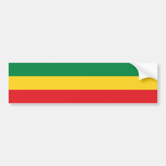 Green, Gold (Yellow) and Red Colors Flag Bumper Sticker