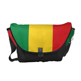 Green, Gold (Yellow) and Red Colors Flag Courier Bag