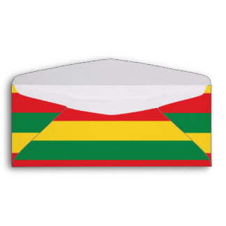 Green, Gold (Yellow) and Red Colors Flag Envelope