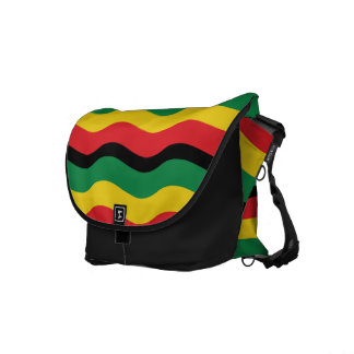 Green, Gold (Yellow) and Red Colors Flag Messenger Bag