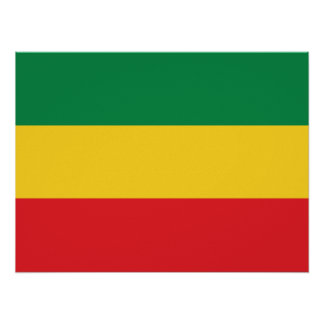 Green, Gold (Yellow) and Red Colors Flag Poster