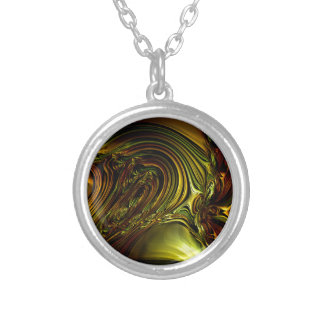 Green Golden Glassworks Multi products selected Round Pendant Necklace