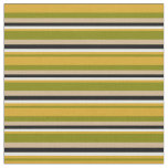 [ Thumbnail: Green, Goldenrod, Light Yellow, Black, and Tan Fabric ]