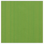 [ Thumbnail: Green & Goldenrod Lines Pattern Fabric ]