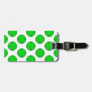 Green Golf Ball Pattern Travel Bag Tag