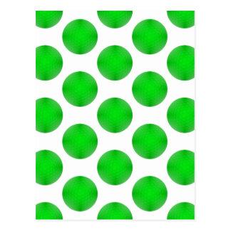 Green Golf Ball Pattern Postcards