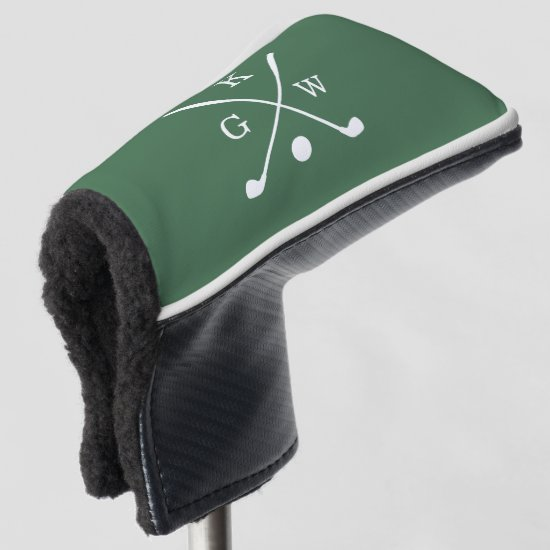 Green Golf Clubs Monogram Golf Head Cover