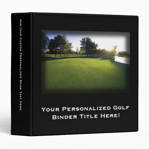 Green Golf Course at Dawn 3 Ring Binder