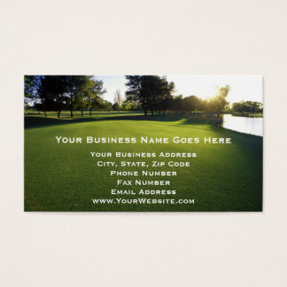 Green Golf Course at Dawn Business Card