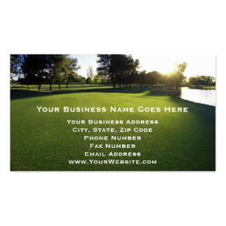 Green Golf Course at Dawn Double-Sided Standard Business Cards (Pack Of 100)