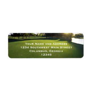 Green Golf Course at Dawn Label