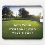 Green Golf Course at Dawn Mousepads