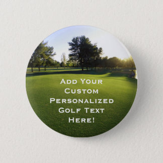 Green Golf Course at Dawn Pinback Button