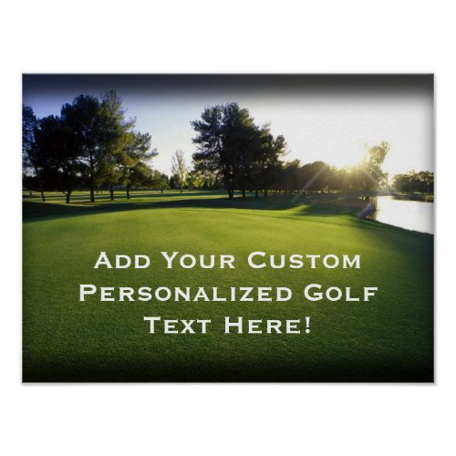 Green Golf Course at Dawn zazzle_print