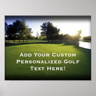 Green Golf Course at Dawn Print