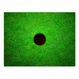 Green Golf Ground With Hole Postcard