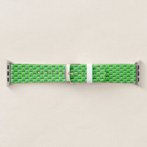 Green Golf Pattern Apple Watch Band
