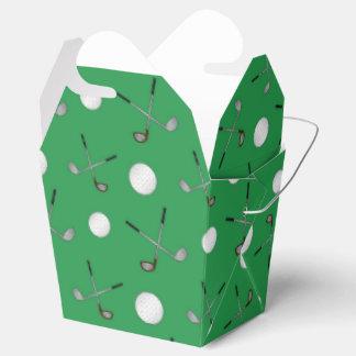 Green golf pattern favor box