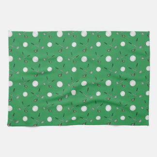 Green golf pattern towel