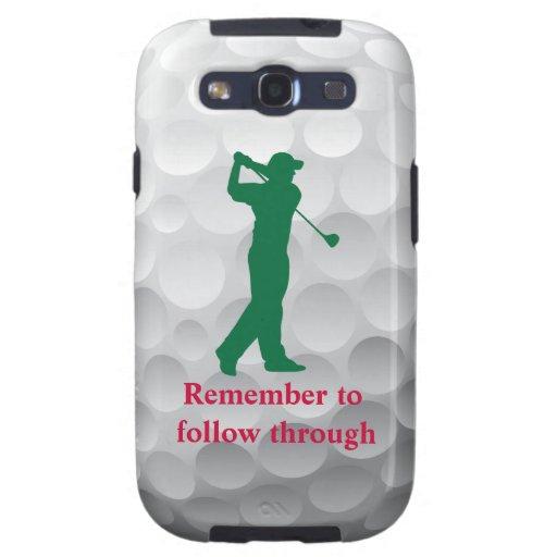 Green Golfer Swinging club Samsung Galaxy SIII Case