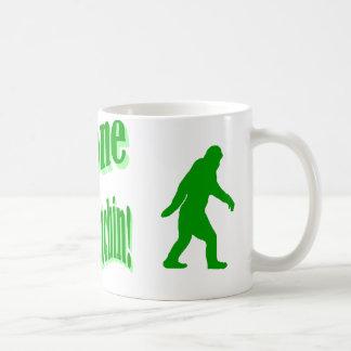 Green gone squatchin slogan text coffee mug