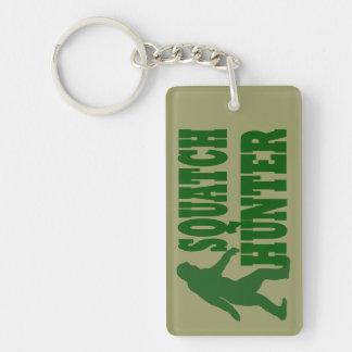 Green gone squatchin slogan text keychain