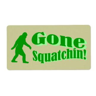 Green gone squatchin slogan text label