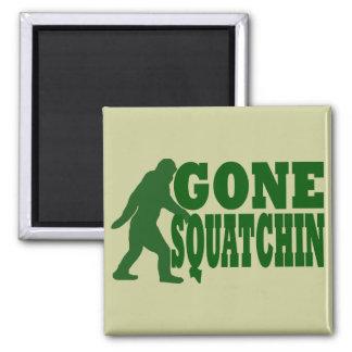 Green gone squatchin slogan text magnet