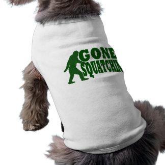 Green gone squatchin slogan text tee