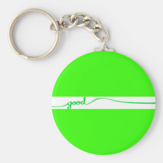 Green Good comment environmentally friendly causes Keychain