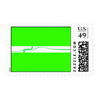Green Good comment environmentally friendly causes Postage Stamp