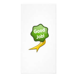 Green Good Job Ribbon Card