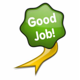 Green Good Job Ribbon Cutout