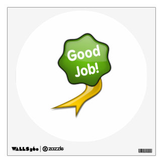 Green Good Job Ribbon Wall Decal
