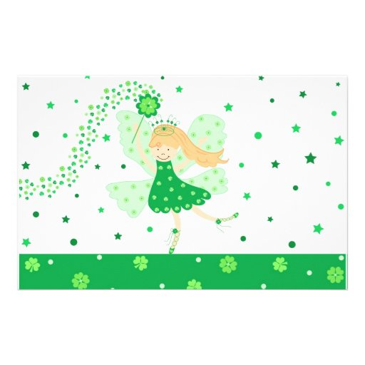 Green Good Luck fairy Stationery