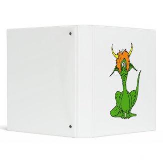 Green Goofy Dragon binder