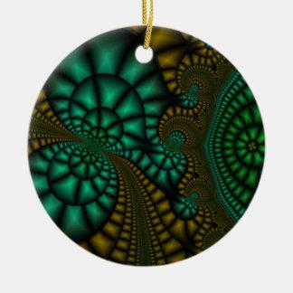 Green Goose fractal art ornament