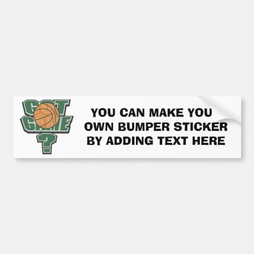 Green Got Game? T-shirts and Gifts Bumper Stickers