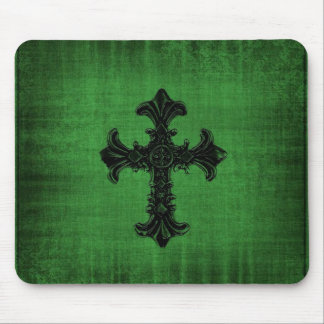 Green Gothic Mouse Pad