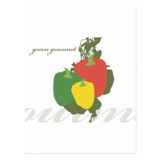 Green Gourmet Bell Pepper Postcard
