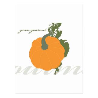 Green Gourmet Pumpkin Post Card