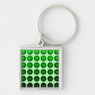 Green gradient ball array on light-green back keychain