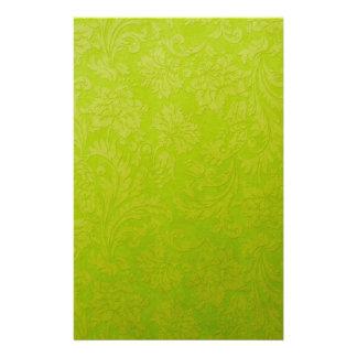 Green Gradient Brocade Stationery