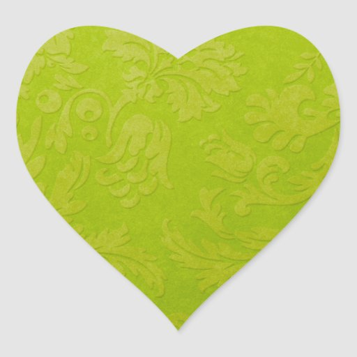 Green Gradient Brocade Sticker