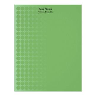 Green gradient spots letterhead