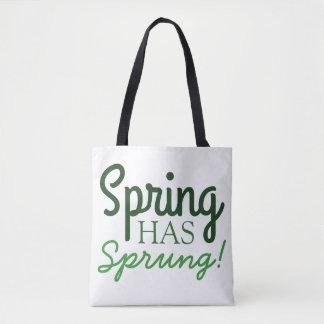 Green Gradient Tote Bag | Spring Has Sprung