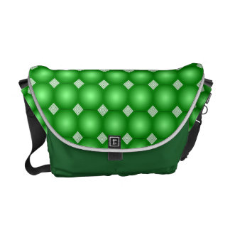 Green Gradient With White Stripes Messenger Bag
